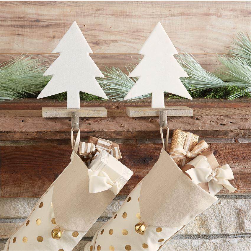 Mud Pie Mudpie Marble Tree Stocking Holder Stocking Tree Stocking Holders Christmas Stocking Holders