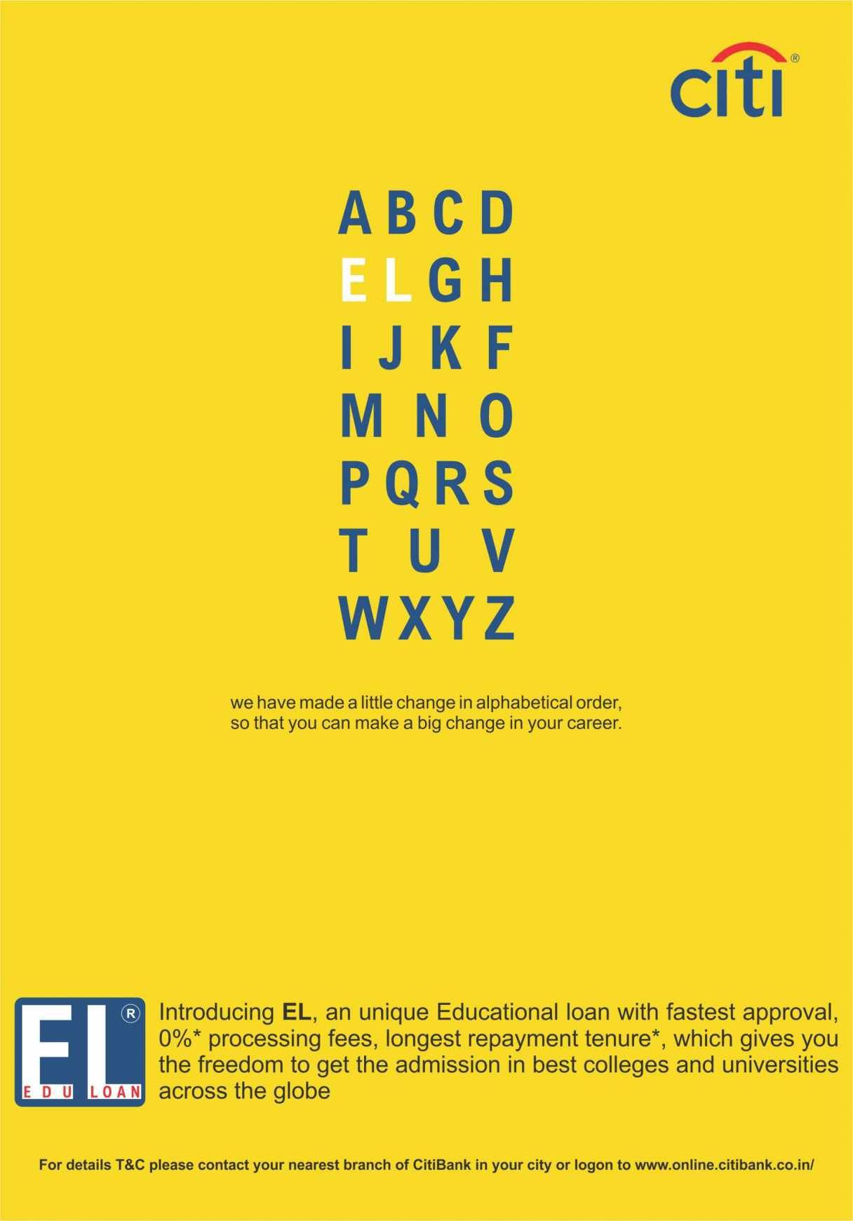 Audrey C. Spring 2015 Education Loan print ad created for Citibank ...