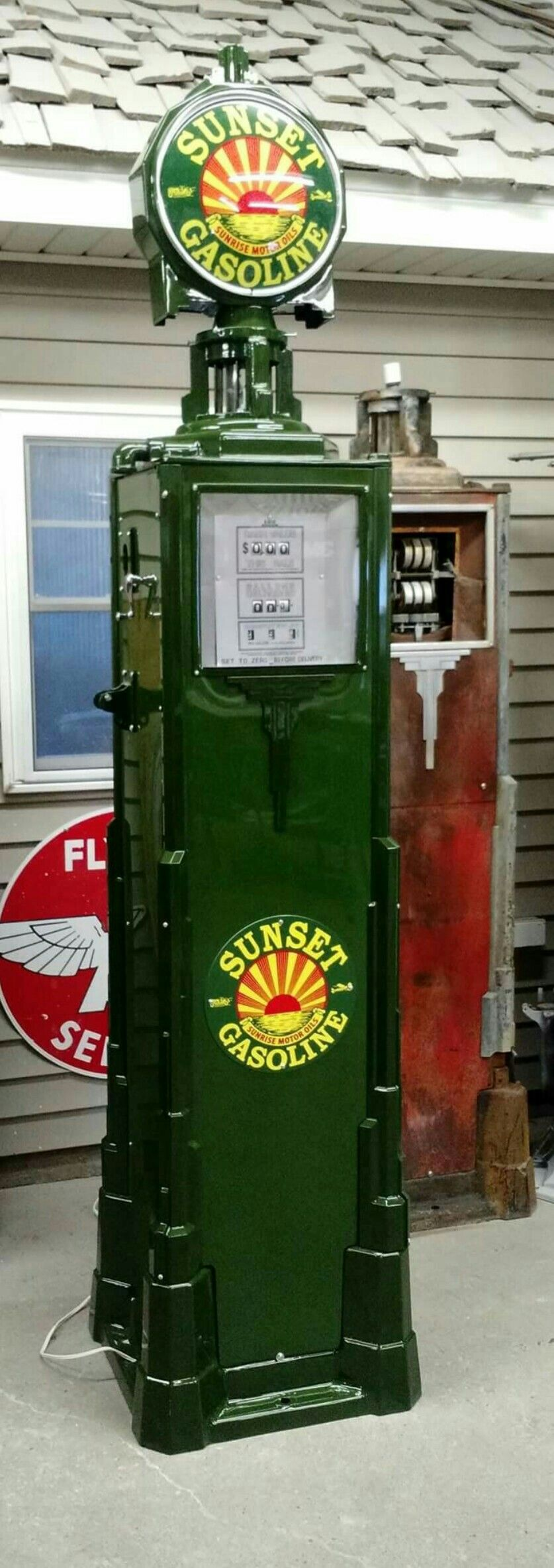 blue sunoco tokheim 39 reproduction gas pump