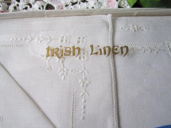 Vintage Irish Linen Set by St Patrick by sweetpeaspantry on Etsy, $5.00