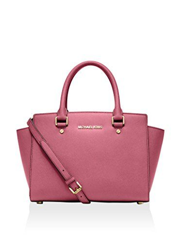 7f388a2a7260 Women s Top-Handle Handbags - Michael Kors Selma Medium Saffiano Leather  Satchel Tulip -- You can get additional details at the image link.