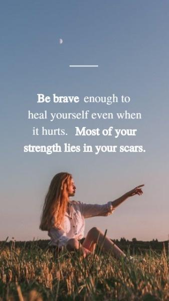 Online Be Brave Quote Wallpaper Mobile Wallpaper Template | Fotor Design Maker