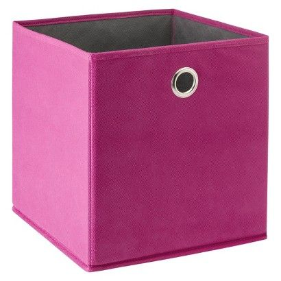 Room Essentials™ Fabric Cube in pink, green, blue, red, purple, and ...