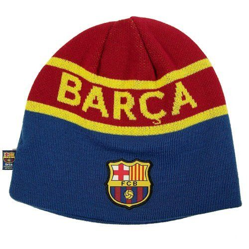 FC BARCELONA SOCCER REVERSIBLE BEANIE KNIT HAT CAP by F.C. Barcelona. Save  57 Off! 6ccc115e146