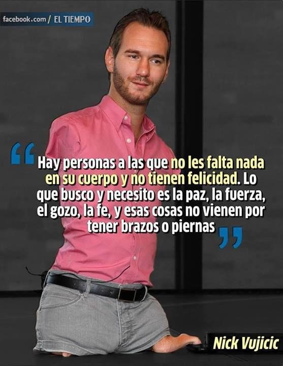Well-known nick vujicic frases para reflexionar - Buscar con Google | frases  MD35