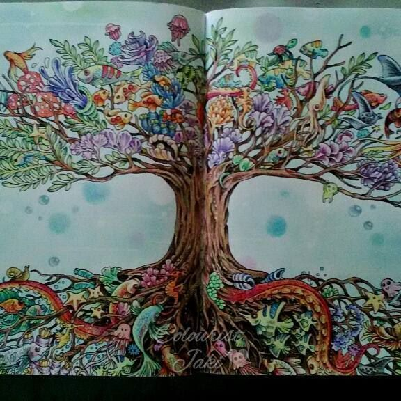 Collection Imagimorphia Coloring Pages Gel Pens Tree