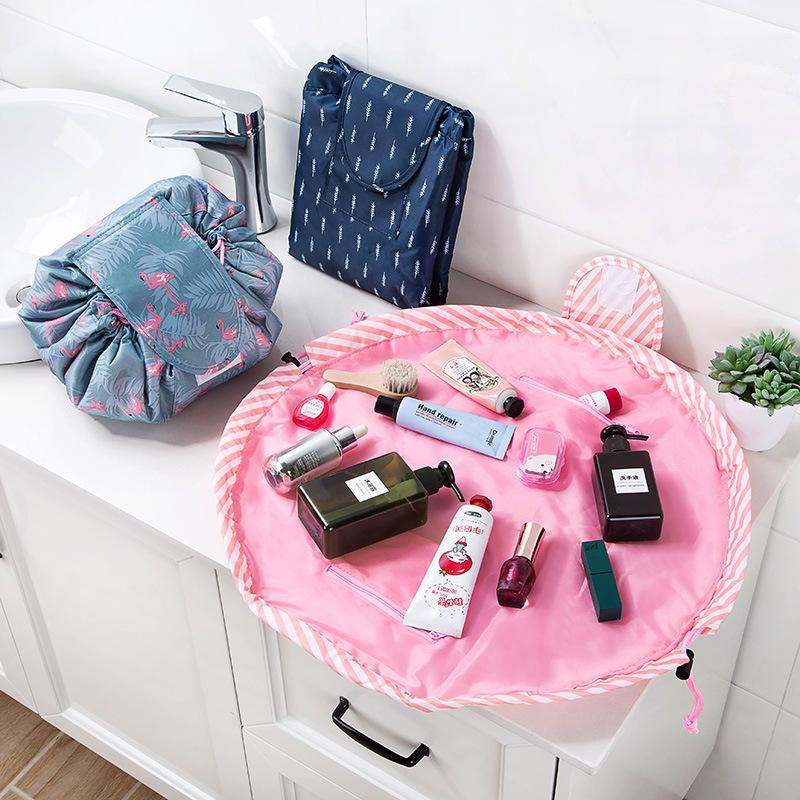c000a29120aa Large Capacity Cosmetic Bag Lazy Makeup Multifunction Portable ...