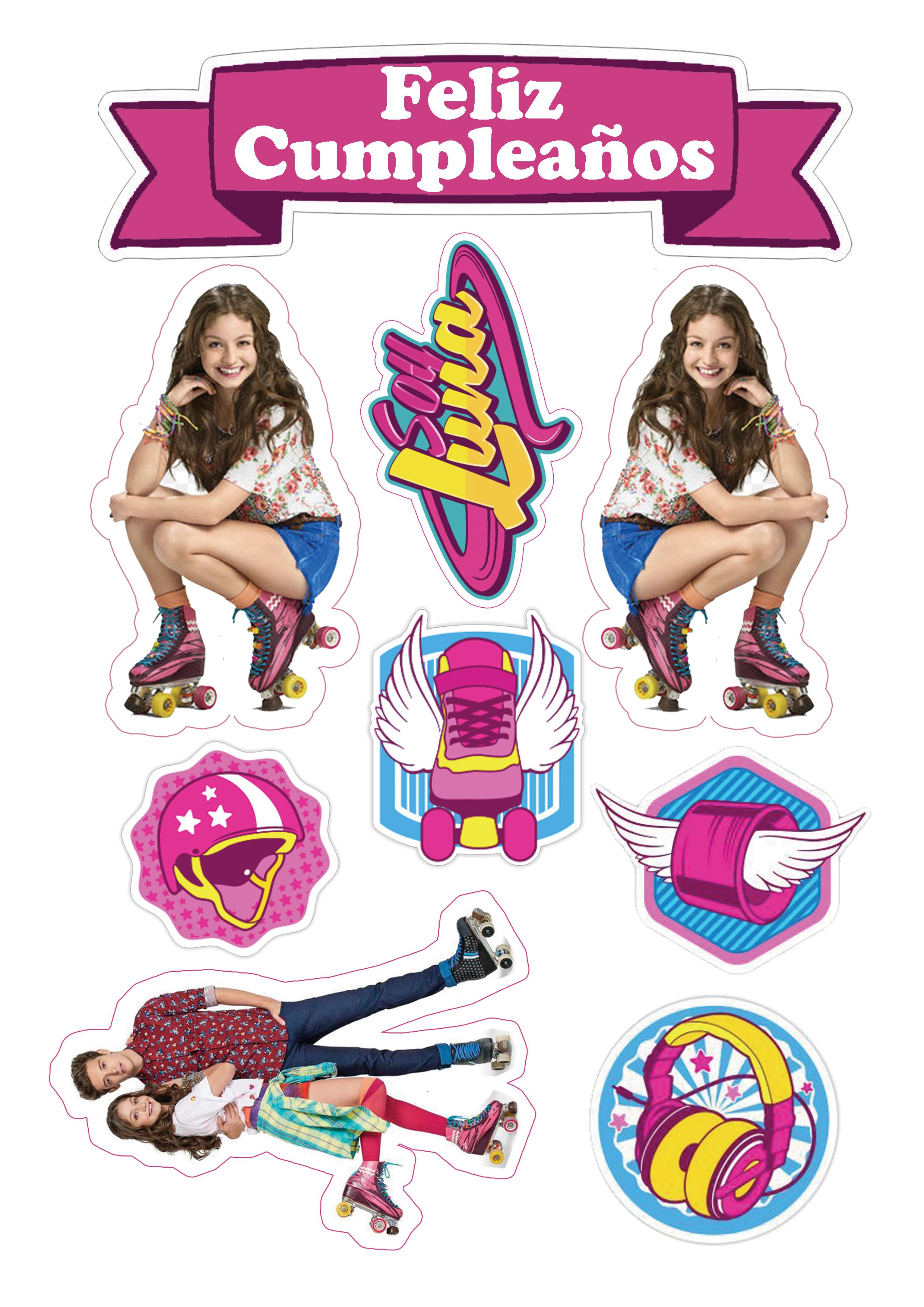 Videomix Crea Tu Video Patin De Soy Luna Decoracion De Soy Luna Soy Luna Stickers