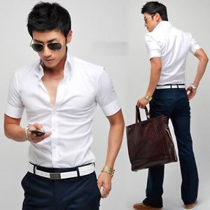 Fitted Short Sleeve Dress Shirts For Men | Is Shirt