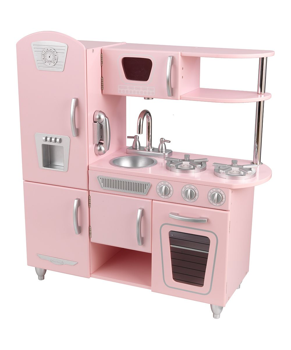 vintage kitchen pink daily deals for moms babies and kids ma rh pinterest com  wooden play kitchen for babies