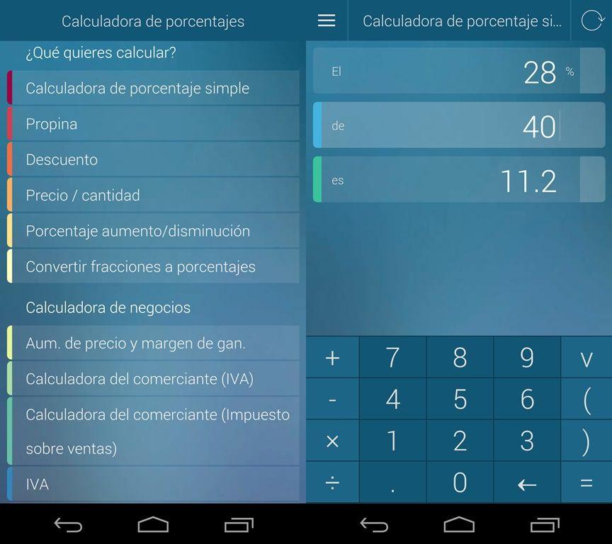 Calculadora de porcentajes -1   App Android   Pinterest   Calcular ...