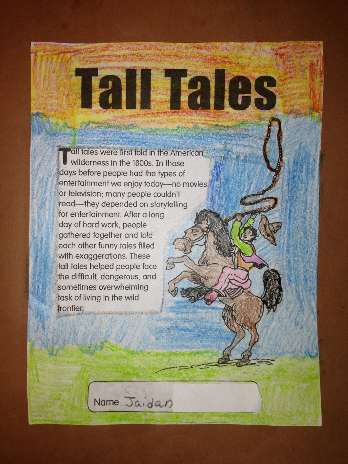 Tall Tales Worksheet And Printables