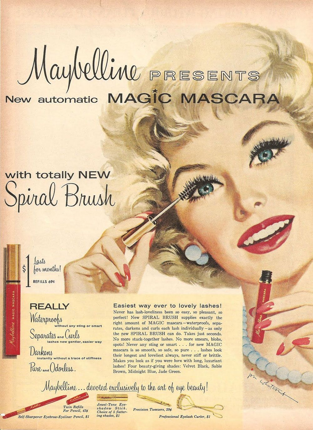 Pin By Beth Moore On Vintage Advantage Maybelline Vintage Ads Beauty