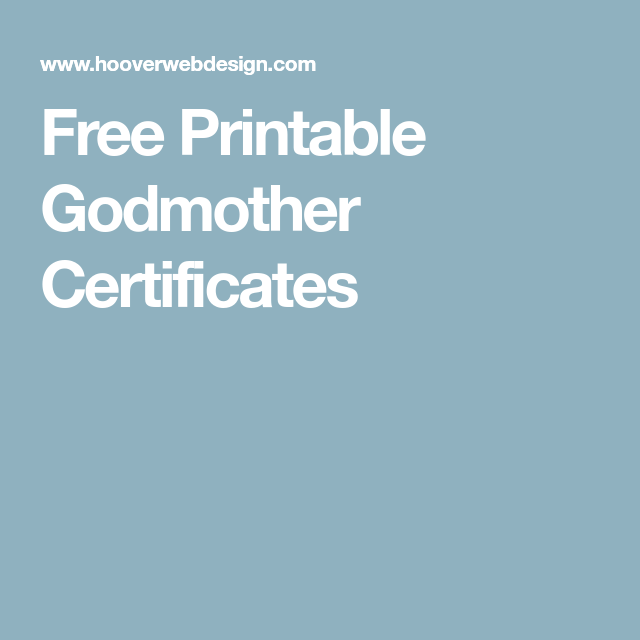 Free Printable Godmother Certificates Naming Day Pinterest