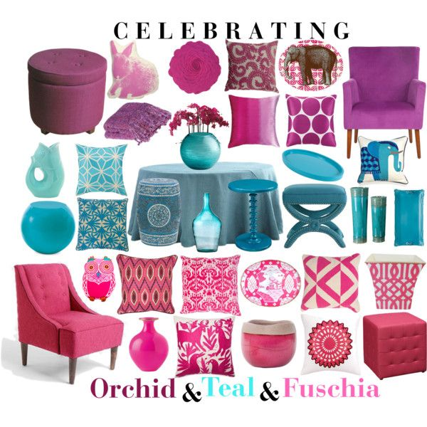 Celebrating Orchid & Teal & Fuschia by aprimmdesign on Polyvore ...