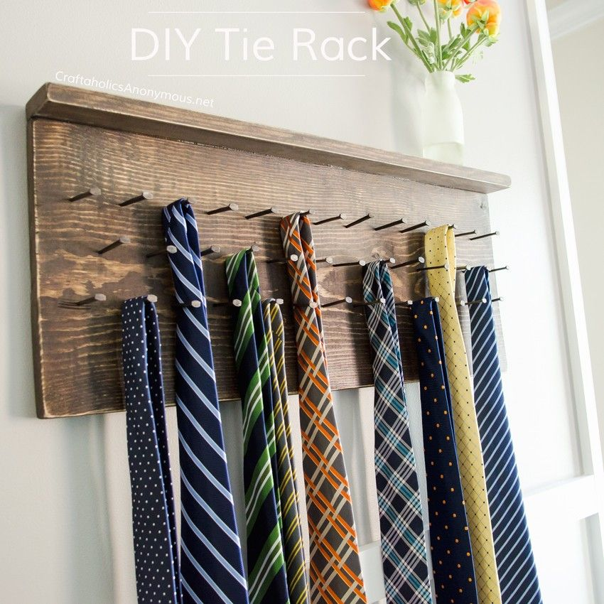 Craftaholics Anonymous Diy Tie Rack Tutorial I Could Use This Same Process To Make My Necklace Holder