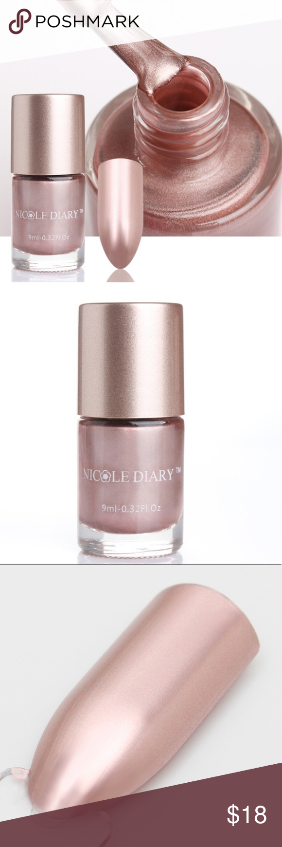 ⚓️Just In NIP Metallic Rose Gold Nail Polish New in the package ...
