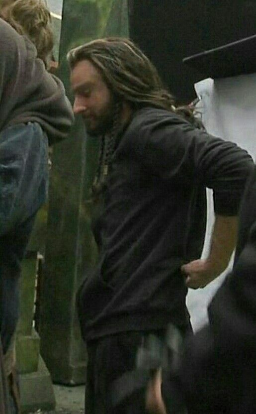 The Hobbit behind the scenes BTS - Richard Armitage as Thorin