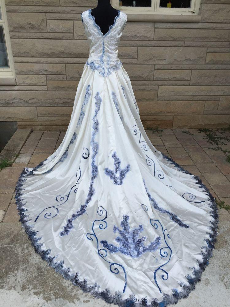 Corpse bride wedding dress emily halloween costume sz 18 for Halloween wedding dresses plus size
