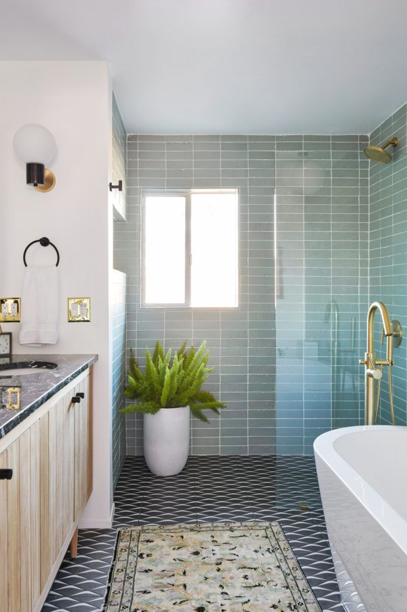 a vintage splendor master bathroom