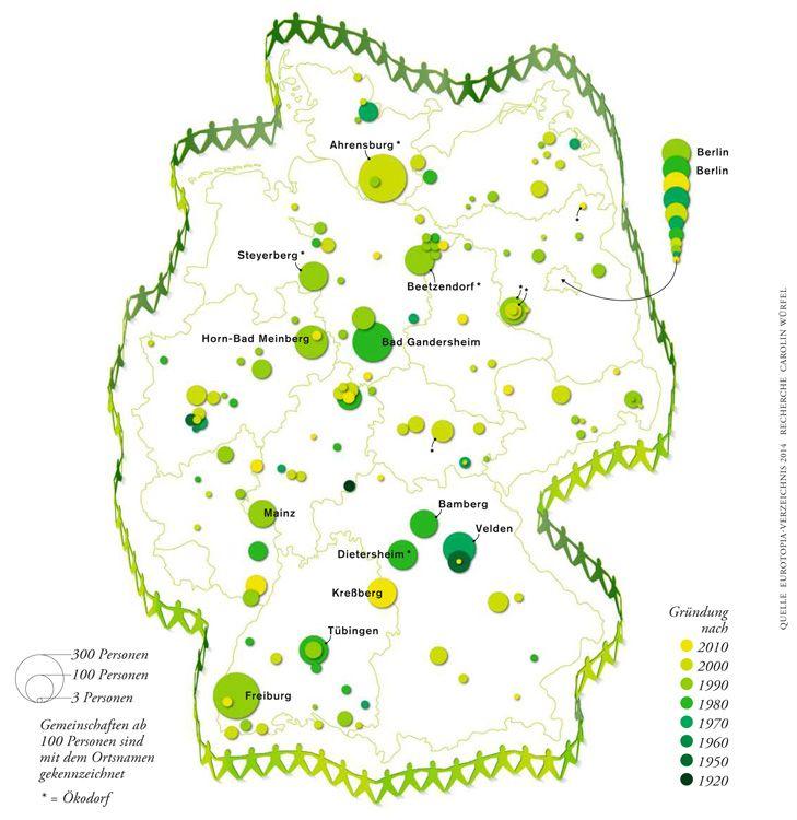Alternative Gemeinschaften Deutschlandkarte Ahrensburg Und Bamberg