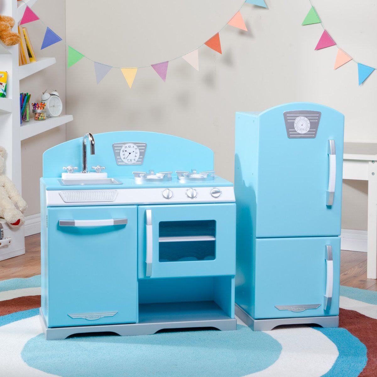 Retro Play Kitchen Set Kidkraft 2 Piece Blue Retro Play Kitchen Blue 18999 Www