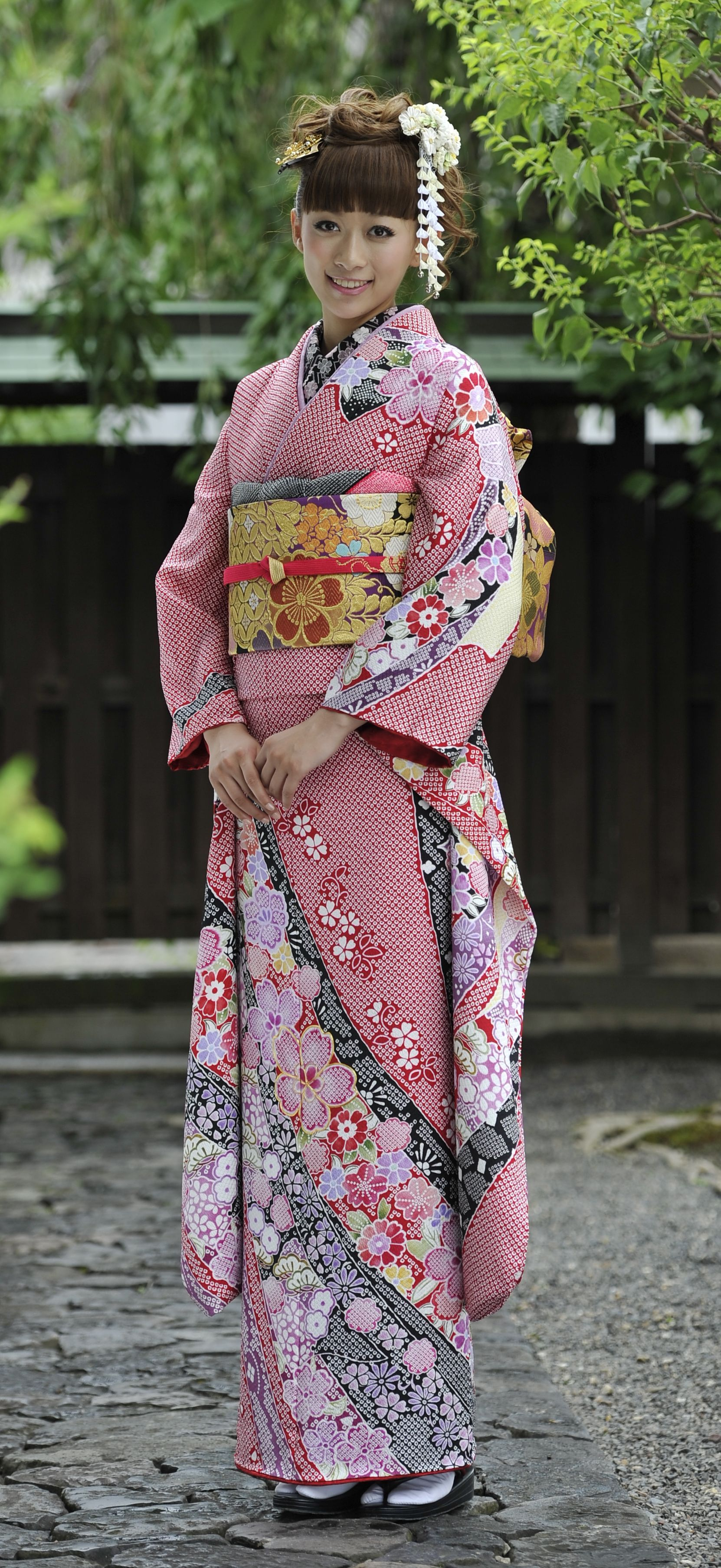 High Fashion Purple Japanese National Women Kimono ... |Traditional Kimono