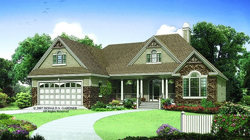 Home Plan Homepw75786 1668 Square Foot 3 Bedroom 2