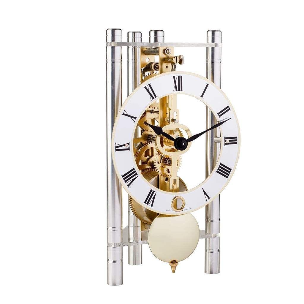 Hermle LAKIN Mantel Clock 23023X40721, Silver / Gold Pendulum in