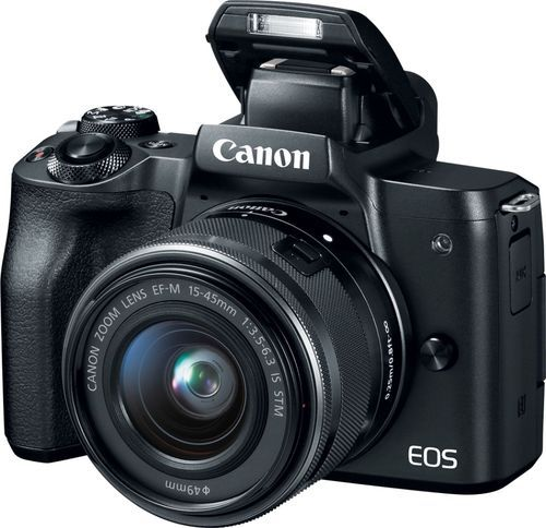 Canon – EOS M50 Mirrorless Camera with EF-M 15-45mm f/3.5-6.3 IS STM Zoom Lens – Black