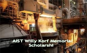 AIST Willy Korf Memorial Scholarship in USA, and applications are submitted till 2nd March 2015. AIST is inviting applications for Willy Korf Memorial Scholarship to study at an accredited North American college or university. Up to four US$3,000 one-year undergraduate scholarships will be awarded for the 2015—2016 school year to US students. - See more at: http://www.scholarshipsbar.com/aist-willy-korf-memorial-scholarship.html#sthash.joGg1Hzn.dpuf
