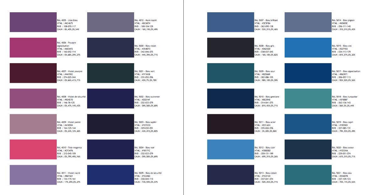 nuancier ral id es diverses pour d co pinterest. Black Bedroom Furniture Sets. Home Design Ideas