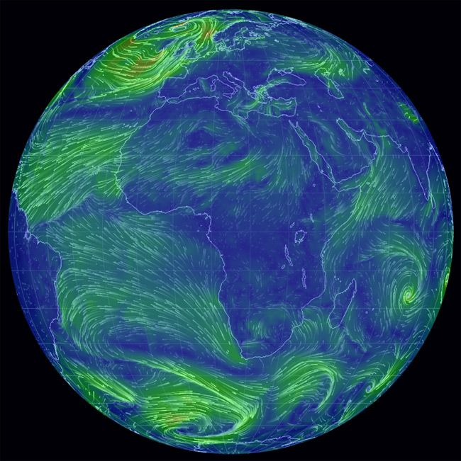 Live Earth Wind Map.Global Wind Currents Shown On Earth Maps Pinterest Wind Map