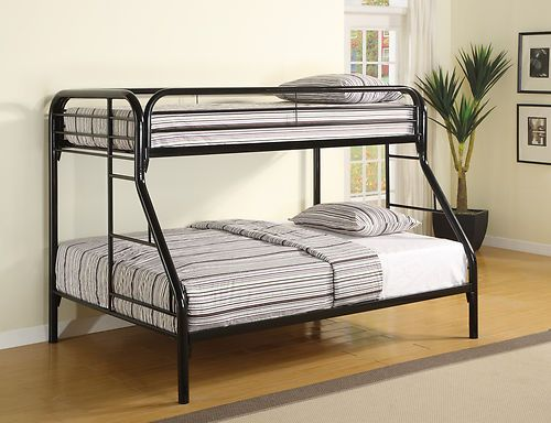 Coaster 2258K Contemporary Twin Full Bunk Bed Black New | $449.00 ...