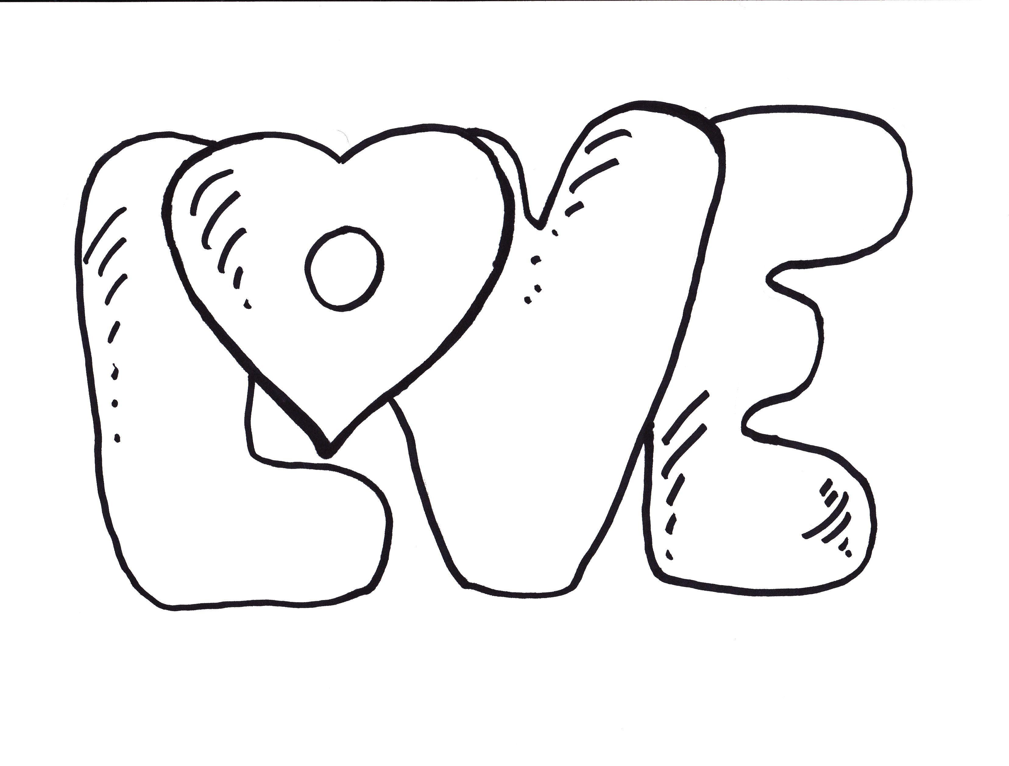 The Word Love Coloring Pages