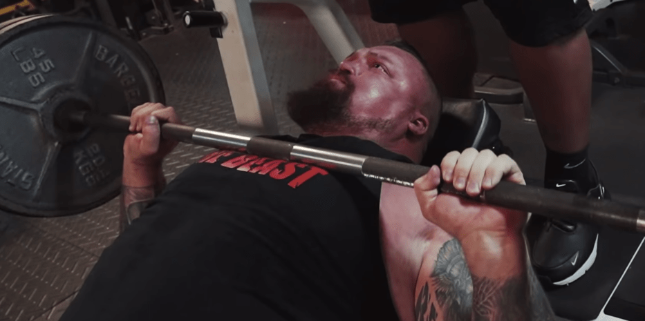 Watch Strongman Eddie Hall Bench Press With The World Record Holder Eddie Hall Bench Press World Records