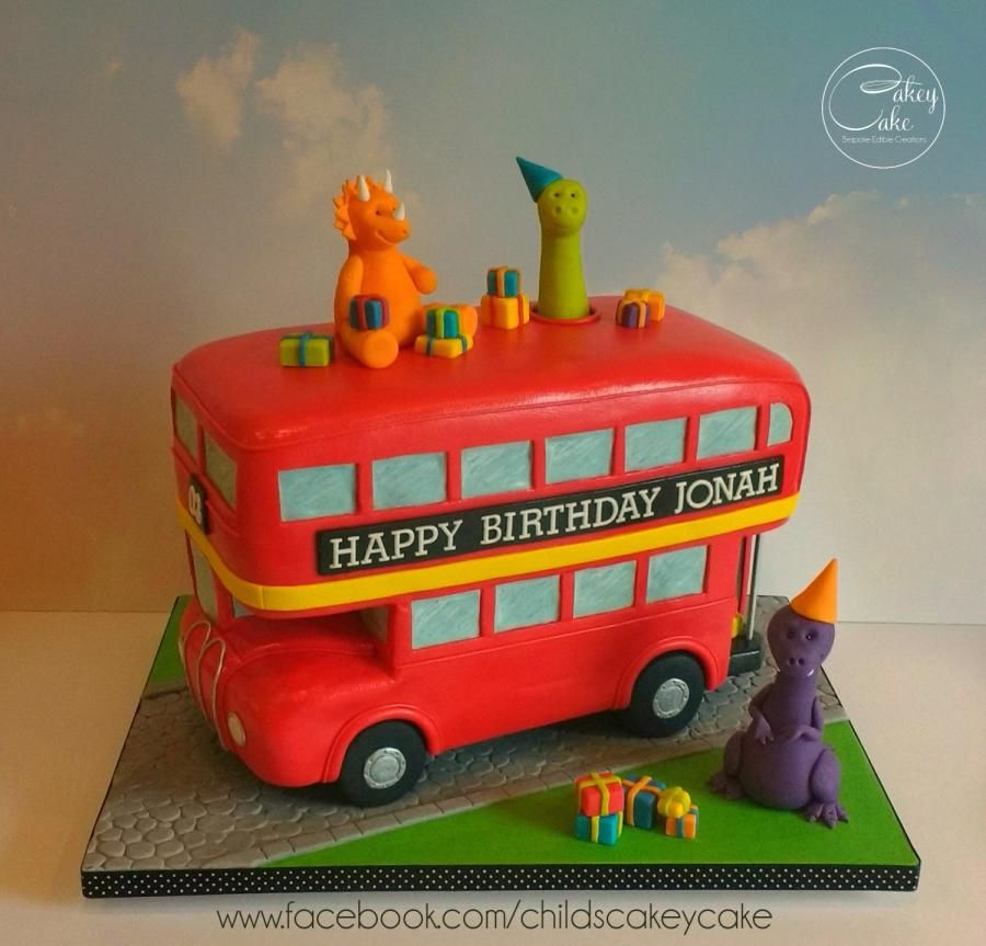 Dinosaur Party Bus By Cakeycake