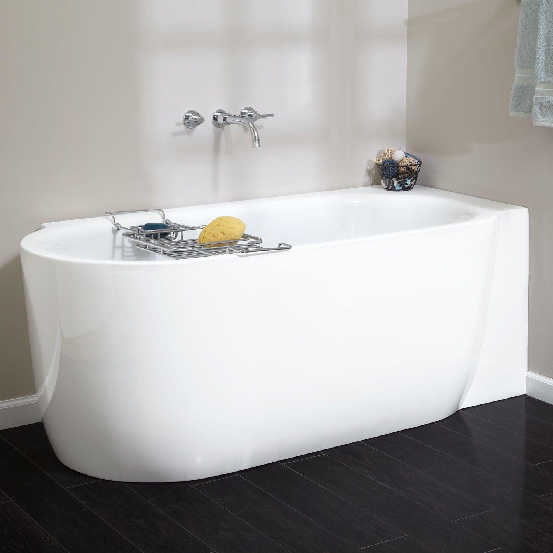 59 L X 28 W Front To Back X 23 H Http Www Signaturehardware Com Bathroom Bathtubs 59 Averill Freestand Corner Tub Acrylic Tub Small Bathroom