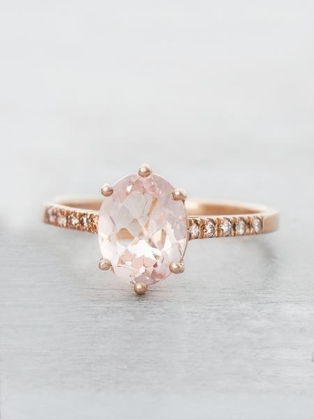 6 prong morganite engagement ring