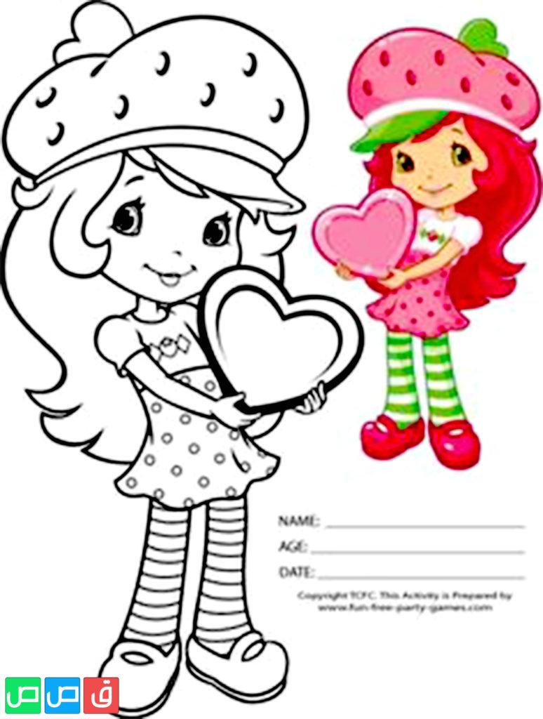 رسومات للتلوين للبنات أكثر من مائة صورة جاهزة للطباعة قصص اطفال Strawberry Shortcake Coloring Pages Cute Coloring Pages Coloring Books