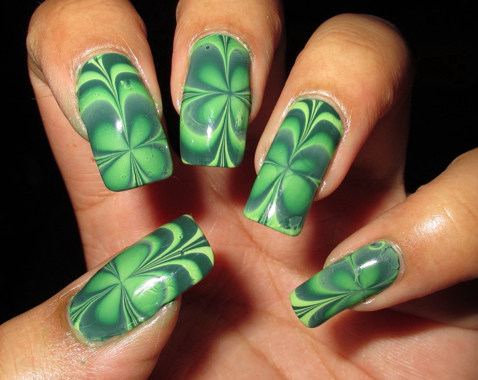 My Simple Little Pleasures: NOTD: Four Leaf Clover Water Marble + ...