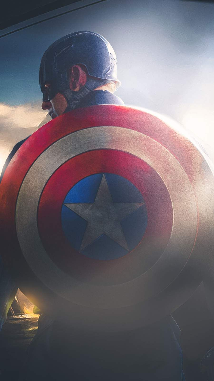 Captain America With His Shield Iphone Wallpaper Superhero Wallpaper Captain America Marvel Wallpaper
