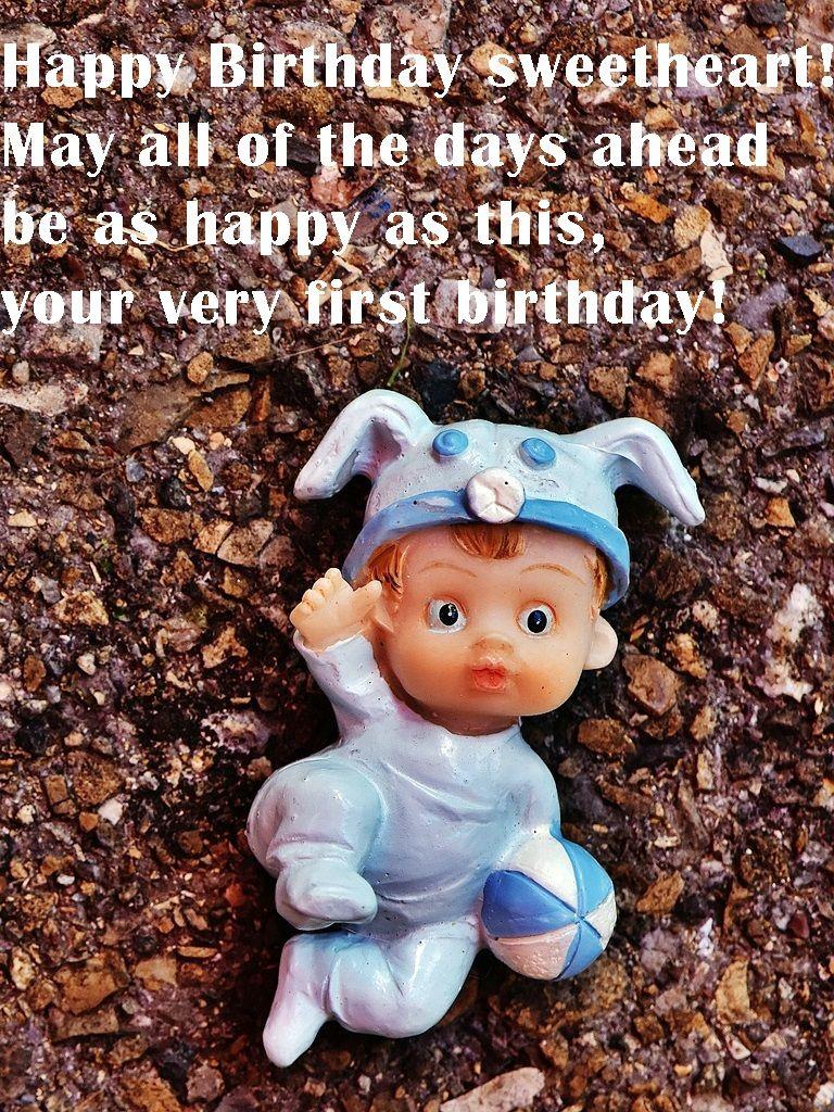 Happy 1st Birthday Wishes for baby boy 1st birthday
