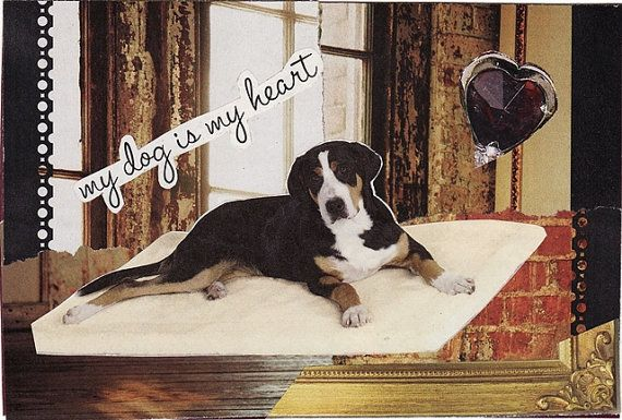 dog collage dog art pet lovers gift by MaterialWhirlCollage, $5.99