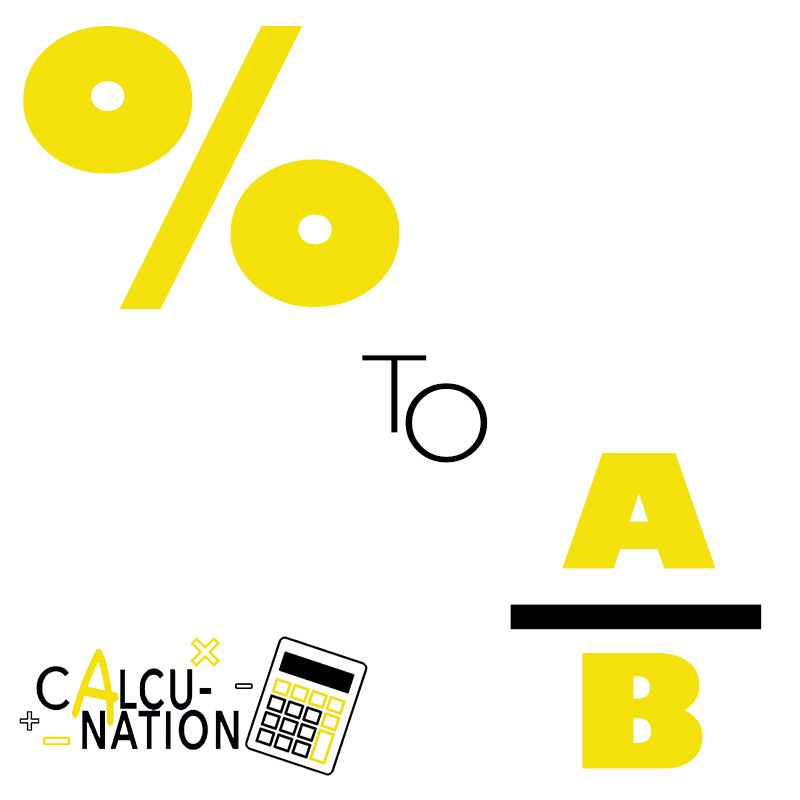 Calculate percentages to fractions with this free online