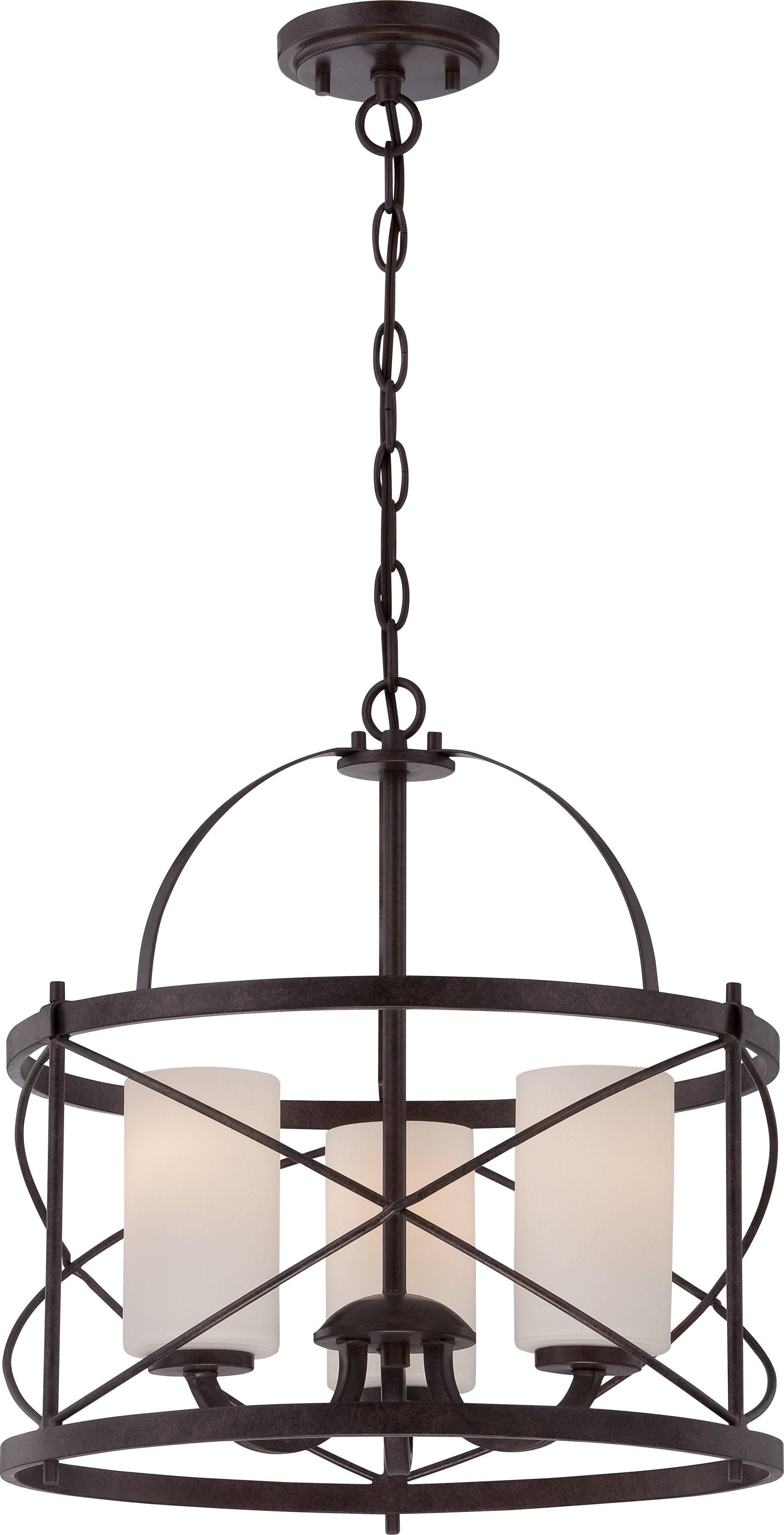 Darby Home Co Farrier 3Light Lantern Drum Pendant