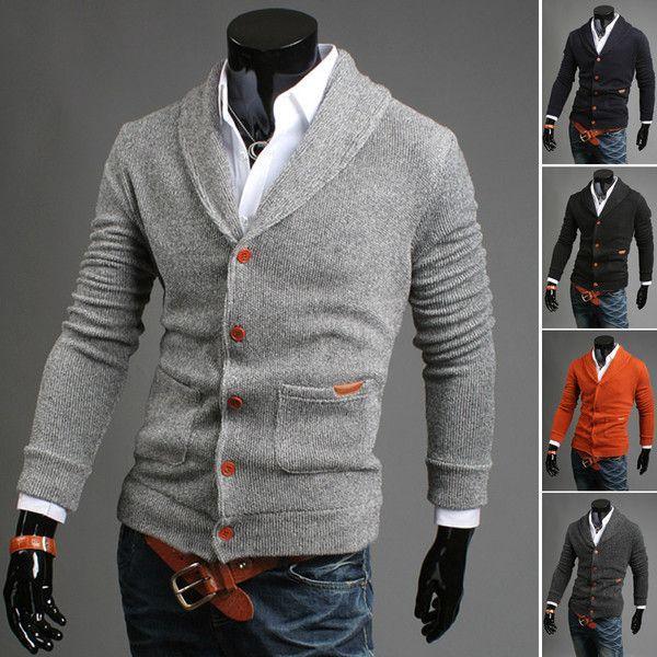 Mens Modern Cardigan Sweater | Stylish men