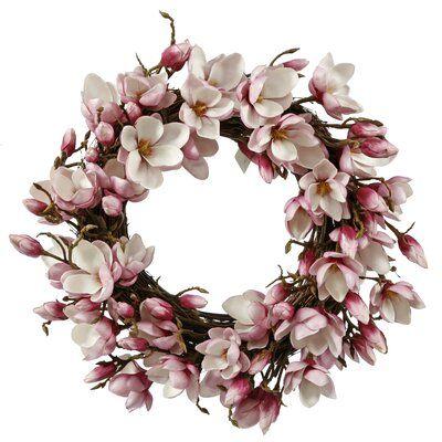 """Photo of 24 """"Tulip Magnolia Wreath Color: Fuchsia"""