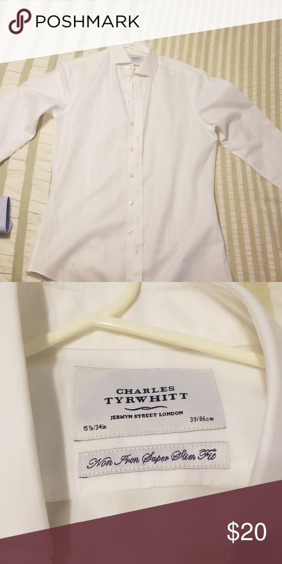 b62084c3 Charles Tyrwhitt shirt White, spread collar. 15.5 / 34. Super slim fit  Shirts Dress Shirts