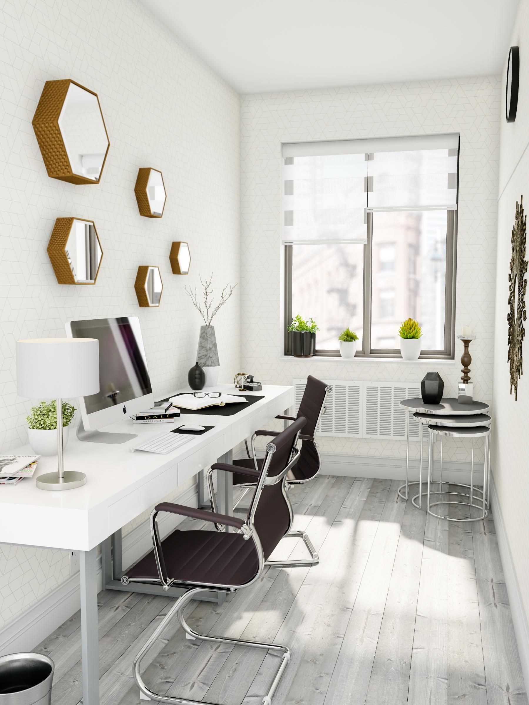 Mind your deskmate in  home office space made for two this corridor lets you also rh pinterest